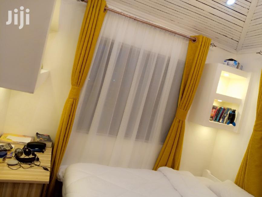 Yellow Linen Plain Color Curtain