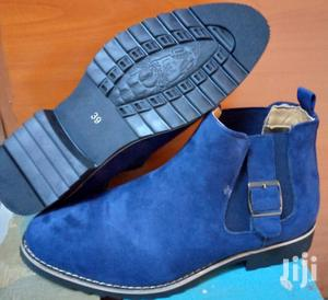 Navy-Blue-Mens Suede Leather Boots | Shoes for sale in Nairobi, Nairobi Central
