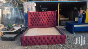 Maroon Chester Bed 5 by 6   Furniture for sale in Nairobi, Kahawa