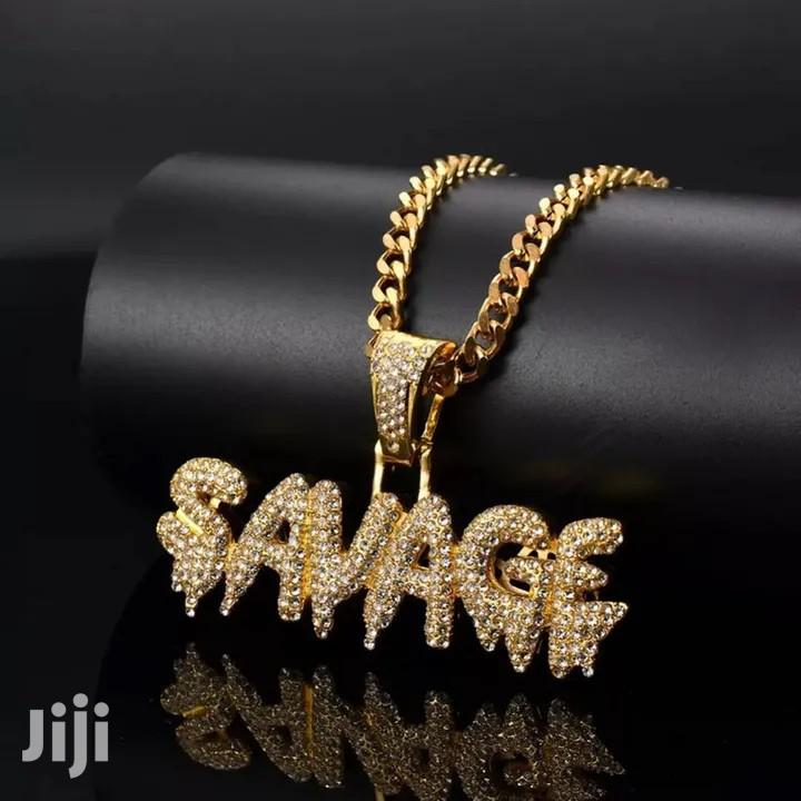 Savage Hip Hop Iced Necklace Chain