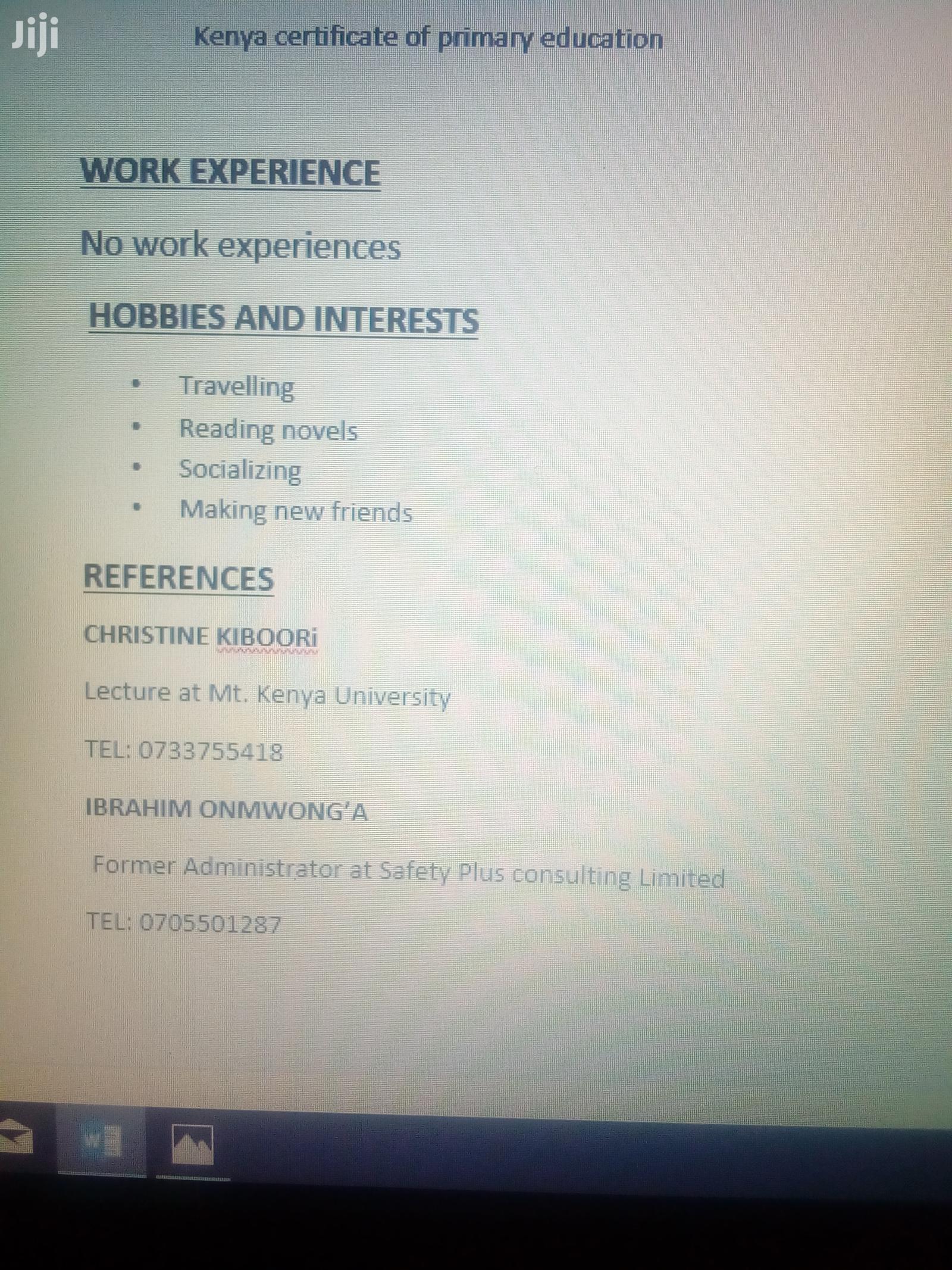 IT and Agribusiness   Advertising & Marketing CVs for sale in Kiambu / Kiambu , Kiambu, Kenya