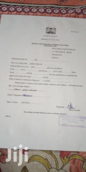 Hotel Waiter   Hotel CVs for sale in Mombasa, Kisauni