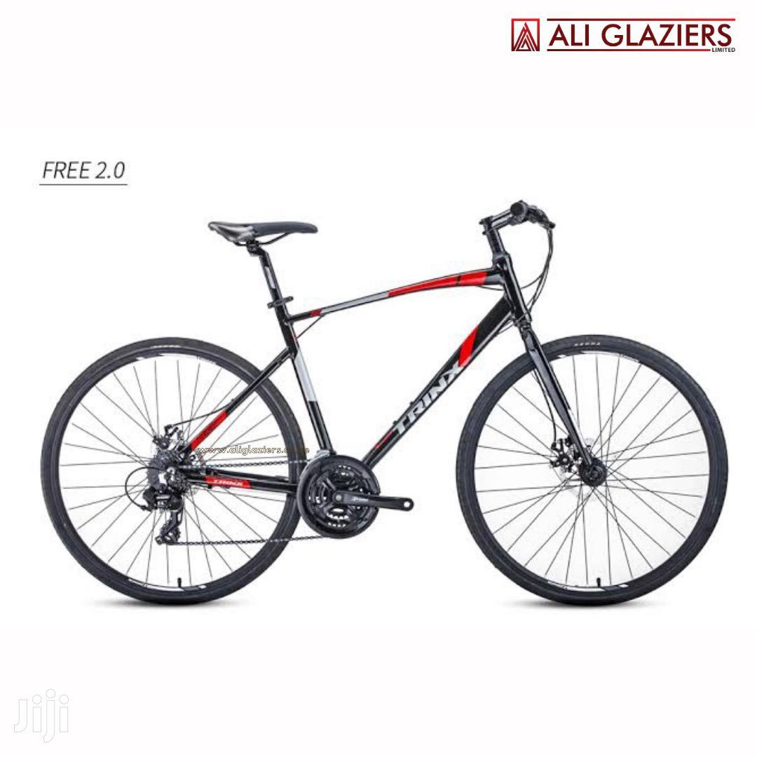 Trinx Hybrid Road Bike Free 2.0 Aluminium 700C Red