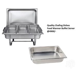 3 Pan Stainless Steel Chafing Buffet Food Warmer Serving Dish Set | Restaurant & Catering Equipment for sale in Nairobi, Nairobi Central