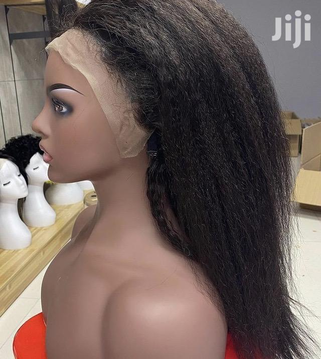 Kinky Straight Wig 20inch 100% Human Hair | Hair Beauty for sale in Nairobi Central, Nairobi, Kenya