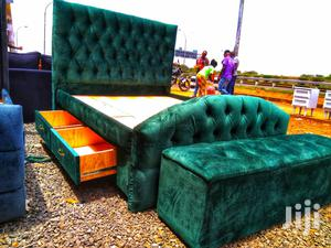 Chester Bed With Buttoned Headboard 5*6   Furniture for sale in Nairobi, Kahawa