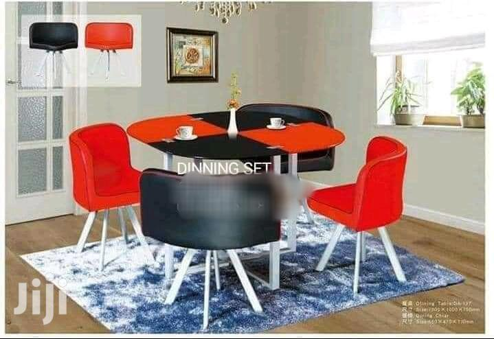 Red and Black Dinning Set