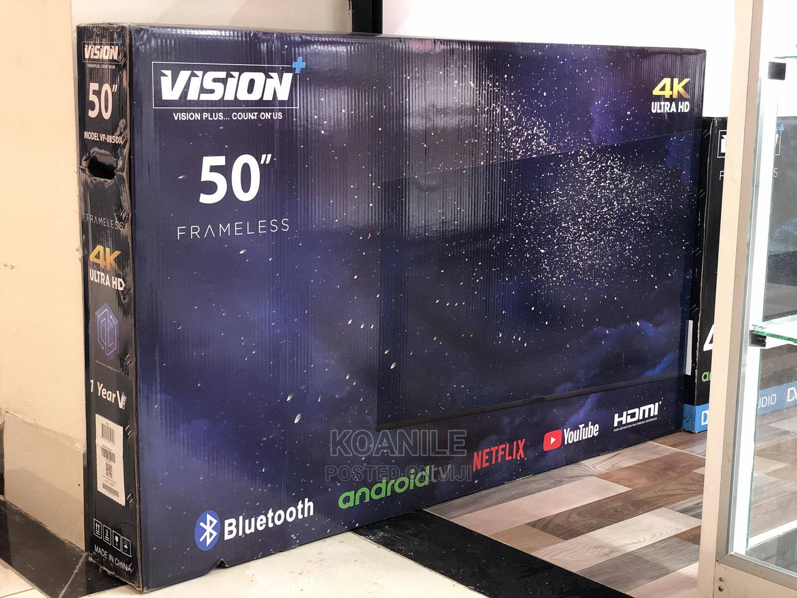 "Vision Plus 50"" Android Frameless Tv"