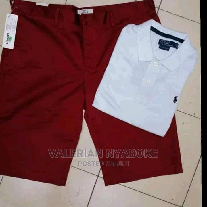 Polo Shirts and Khaki Shorts Available