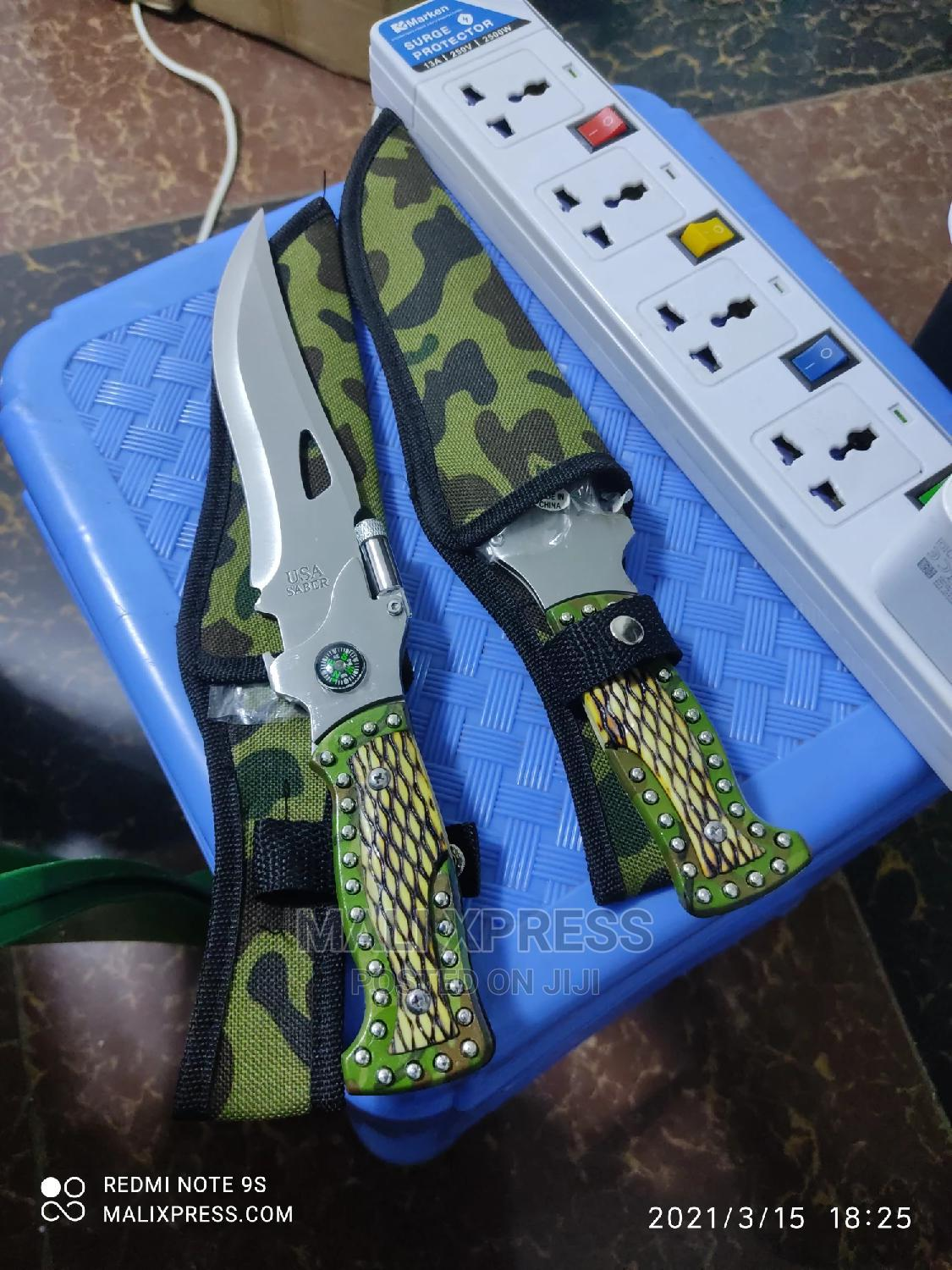 Tactical Camping Knife With LED Light