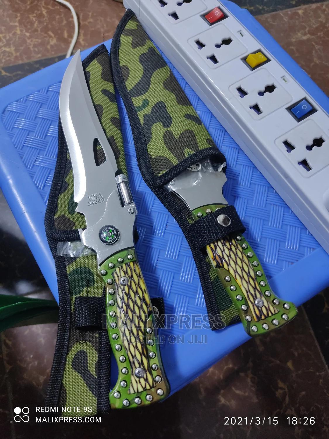 Tactical Camping Knife With LED Light   Camping Gear for sale in Nairobi Central, Nairobi, Kenya