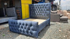 Gray Chester Bed 5 by 6   Furniture for sale in Nairobi, Kahawa