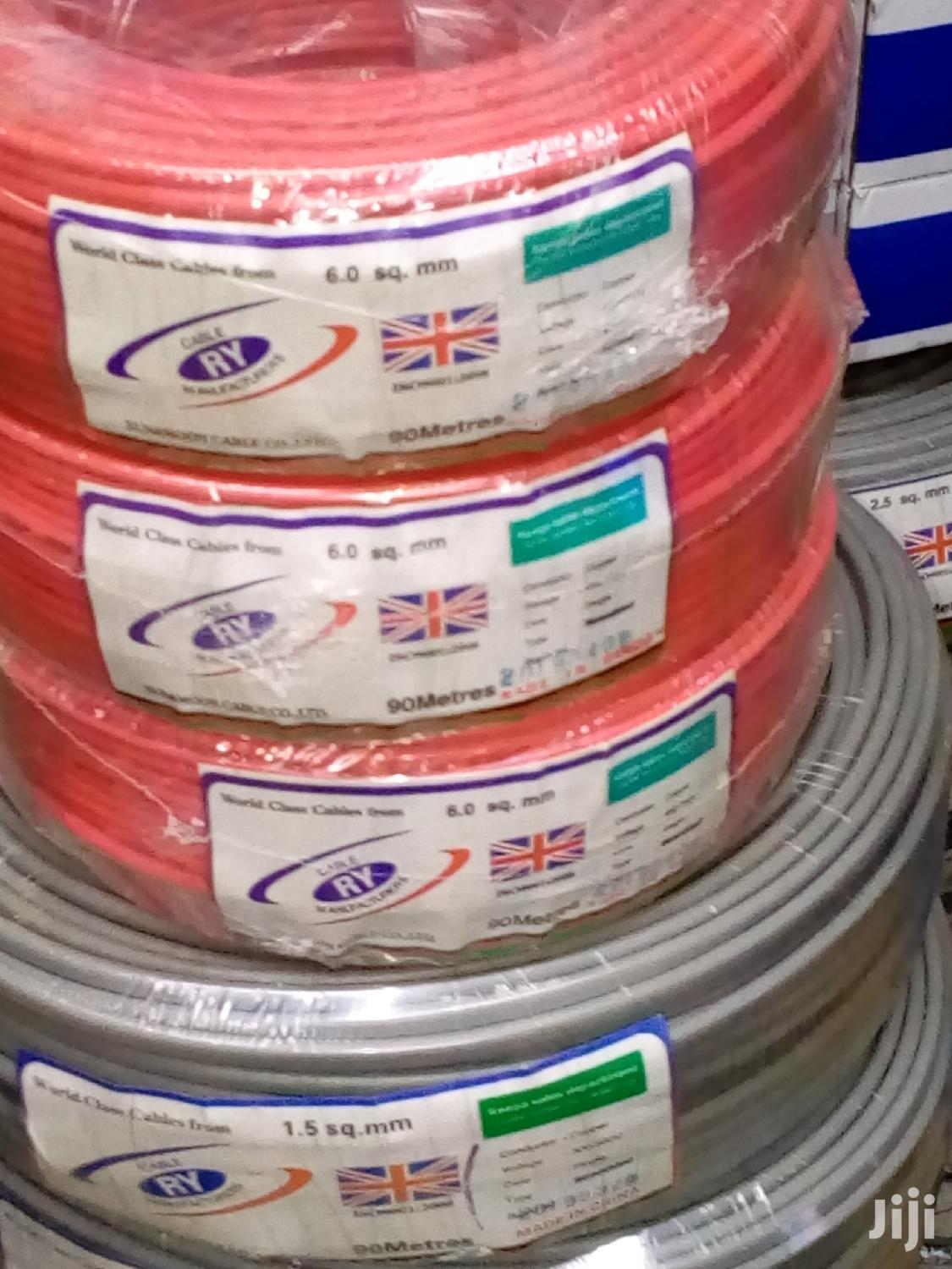 6.0 Mm Single Core Electrical Cable. | Electrical Equipment for sale in Nairobi Central, Nairobi, Kenya