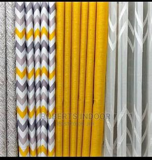 Elegant Yellow and Grey Printed Curtains   Home Accessories for sale in Nairobi, Nairobi Central