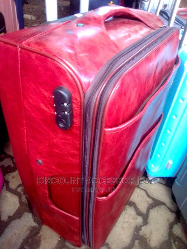 Pioneer Leather Travelling Suitcase (4wheels