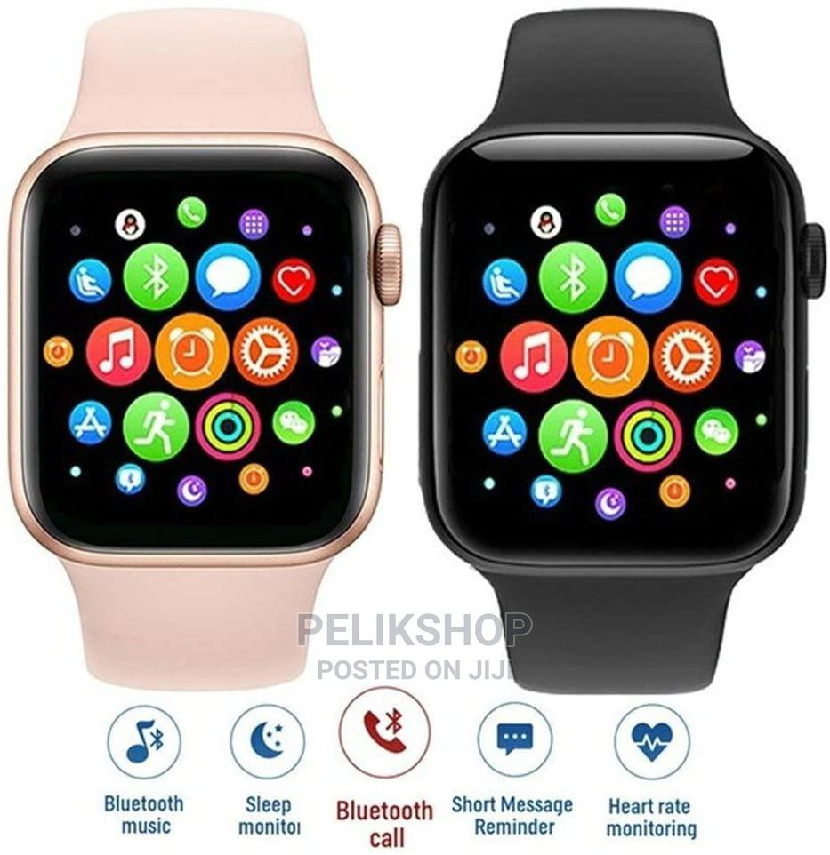 T500 Smart Watch (White, Peach and Black)