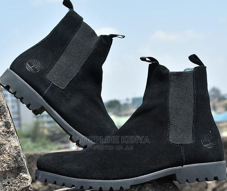 All Black Timberland Mens Suede Leather Boots