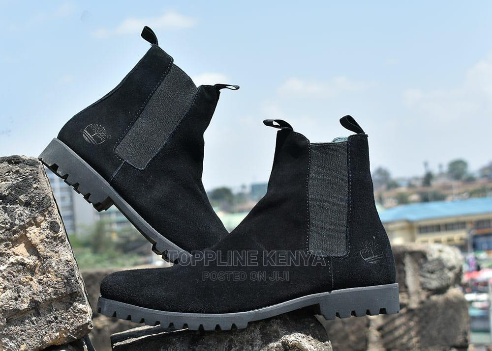 All Black Timberland Mens Suede Leather Boots   Shoes for sale in Nairobi Central, Nairobi, Kenya