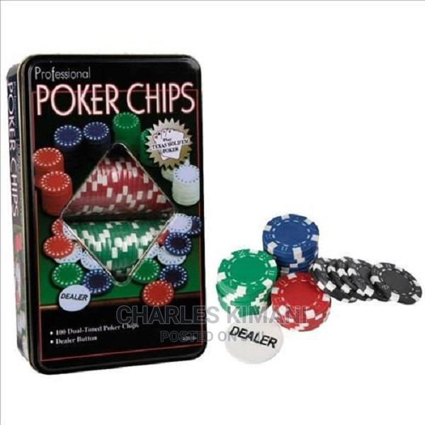 Poker Chips 100pcs Professional Poker Chips Texas Hold 'Em I | Books & Games for sale in Kahawa West, Nairobi, Kenya