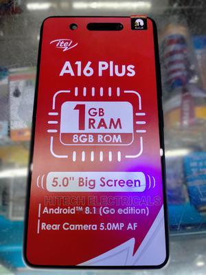 New Itel A16 Plus 8 GB Black   Mobile Phones for sale in Nairobi, Nairobi Central