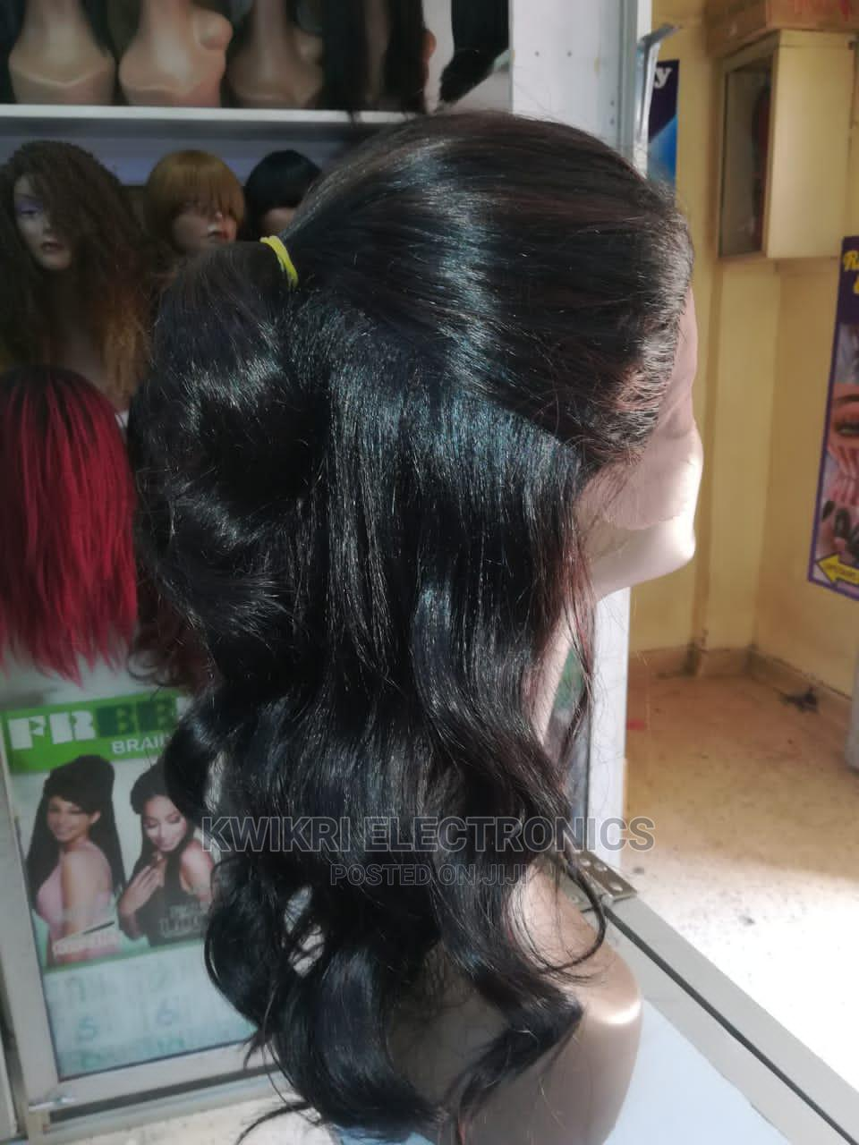 Semi Human Hair Wigs With Lace