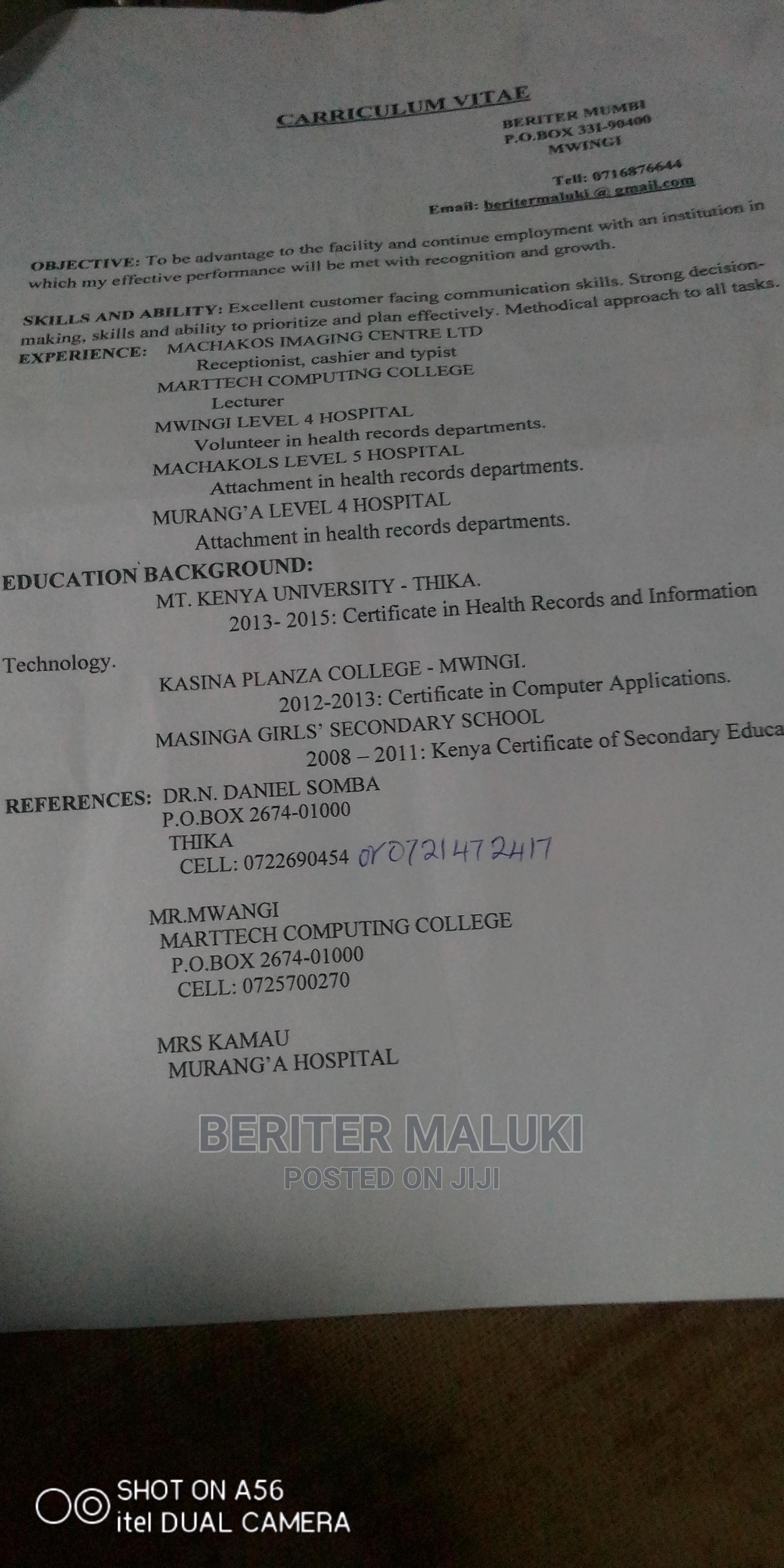 Talented Individual   Advertising & Marketing CVs for sale in Zimmerman, Nairobi, Kenya