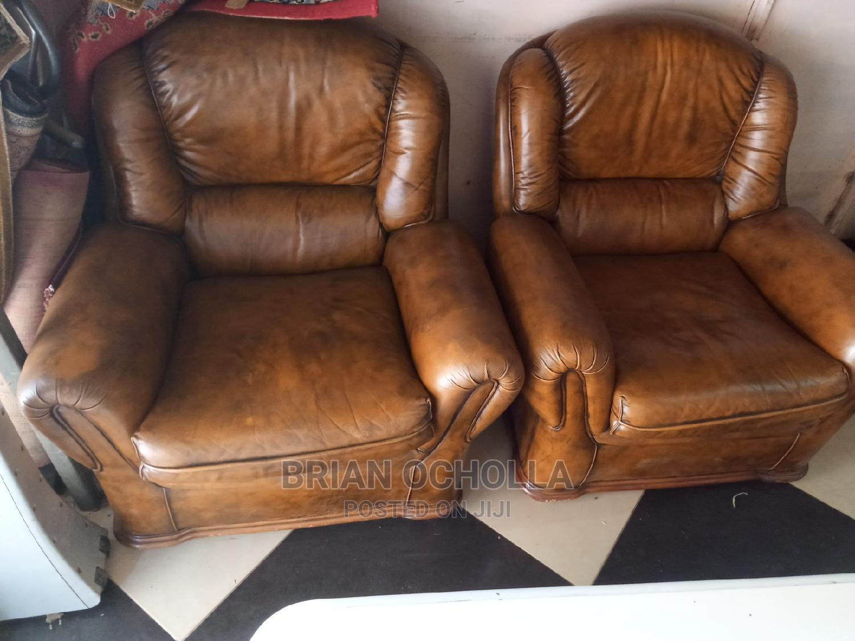 5 Seater Original Leather, Ex UK   Furniture for sale in Roysambu, Nairobi, Kenya