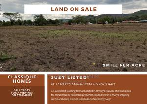 Land on Sale at St Mary's   Land & Plots For Sale for sale in Gilgil, Elementaita