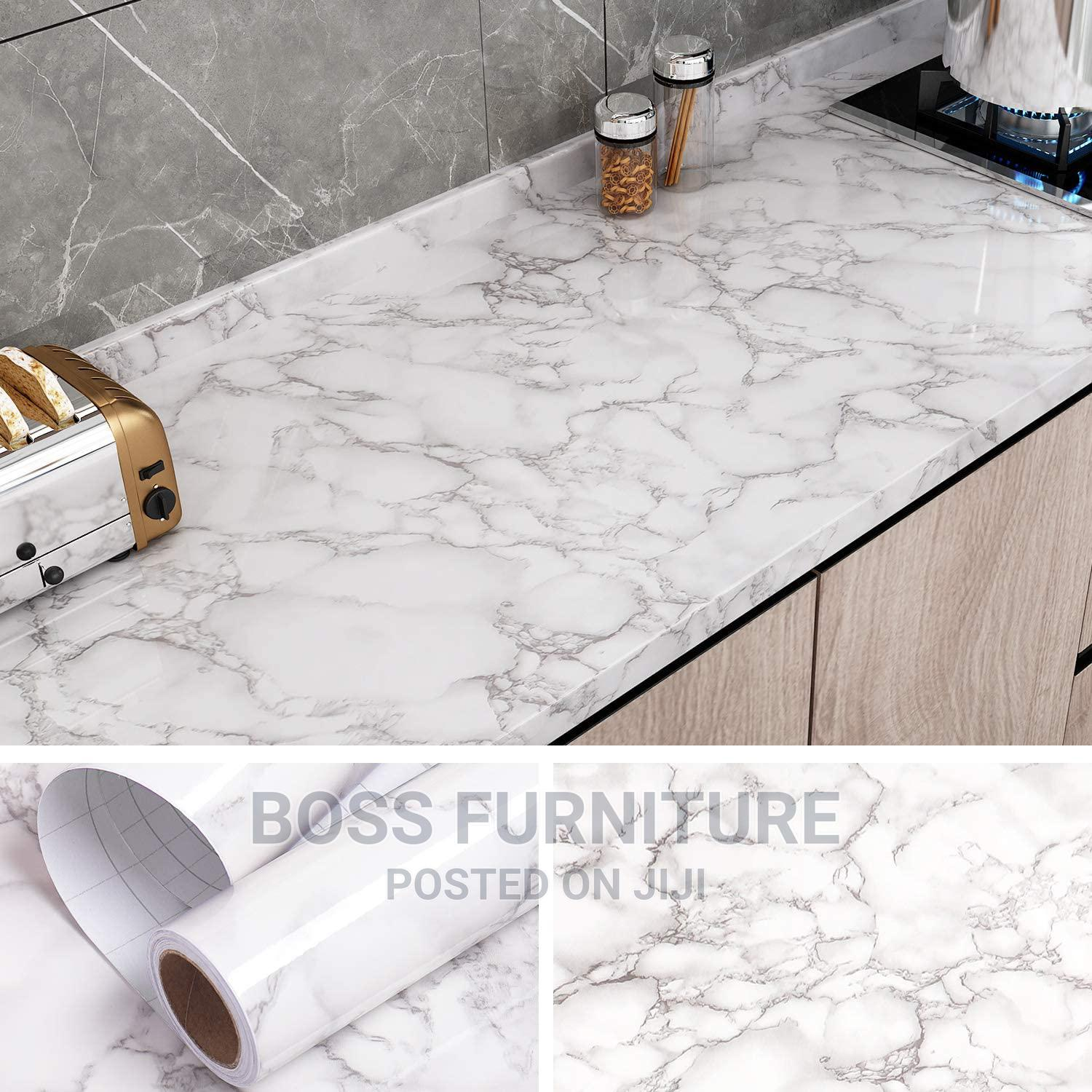 Archive: Grey Marble Contact Paper