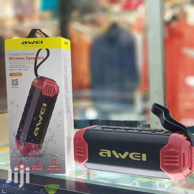 Wireless Bluetooth Speaker Outdoor Waterproof Power Bank AWEI Y280 | Audio & Music Equipment for sale in Nairobi Central, Nairobi, Kenya