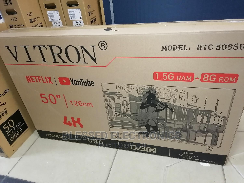 50 Inches Vitron Smart Android 4k Frameless Tv