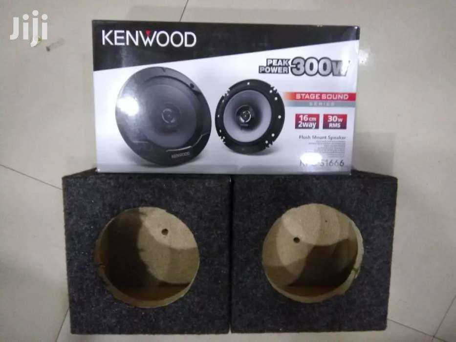 "Kenwood 6 Inch Car Door Speakers 300w Peak Power With Cabinet 6 Inch"""