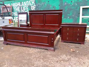 5 by 6 Pure Mahogany Bed   Furniture for sale in Nairobi, Kahawa