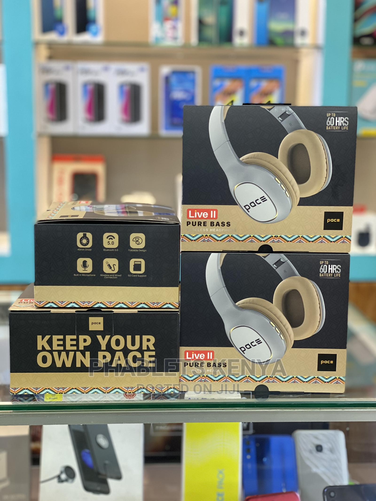 Pace Live II Wireless Bluetooth Headphones | Headphones for sale in Nairobi Central, Nairobi, Kenya
