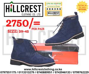 Suede Lace Boots Blue   Shoes for sale in Nairobi, Nairobi Central