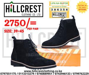 Men's Suede Boots Lace Black   Shoes for sale in Nairobi, Nairobi Central