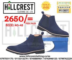 Men's Suede Boots Slip-On Blue   Shoes for sale in Nairobi, Nairobi Central