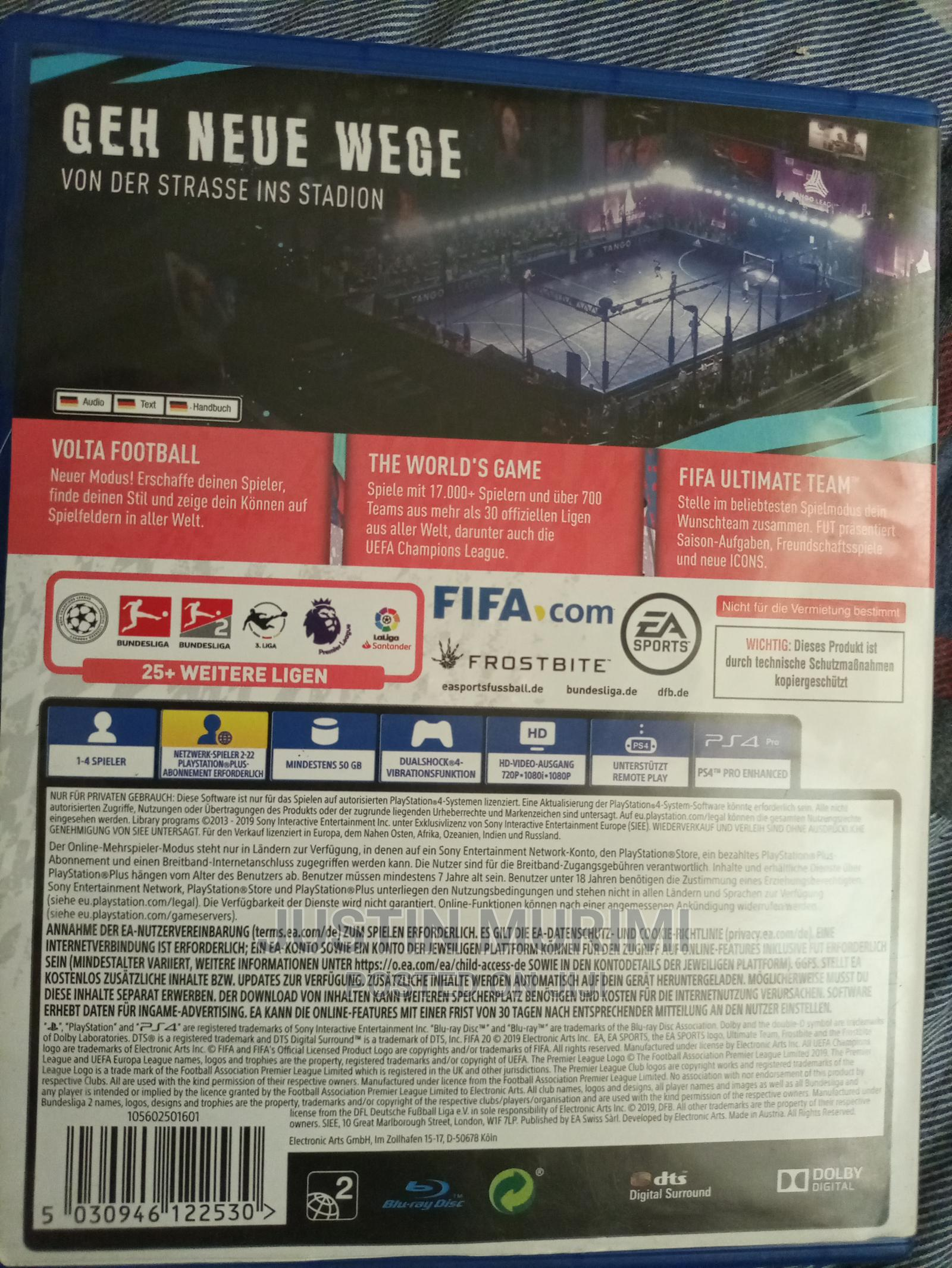 Archive: FIFA 20 Ps4 Pre Owned