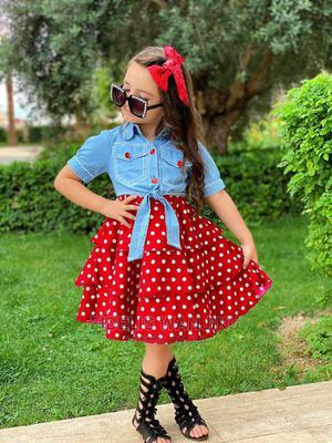 Polka Dress | Children's Clothing for sale in Nairobi, Nairobi Central