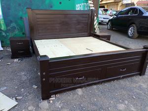 Pure Mahogany Bed 5 by 6   Furniture for sale in Nairobi, Kahawa