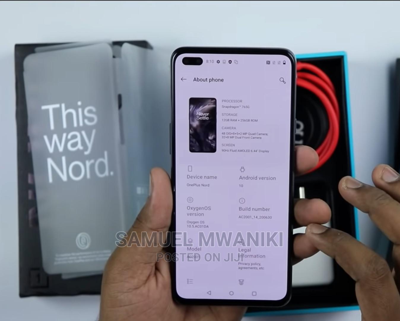 New OnePlus Nord 128 GB Black   Mobile Phones for sale in Nairobi Central, Nairobi, Kenya