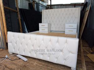 5 by 6 White Modern Bed+ 2 Side Drawers | Furniture for sale in Nairobi, Kahawa