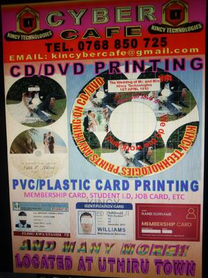 Cd/ DVD and PVC Card Printing   Computer & IT Services for sale in Nairobi, Nairobi West