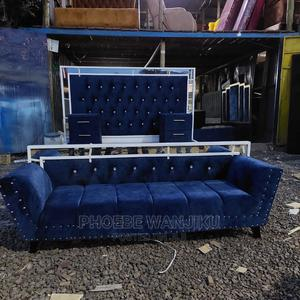6 by 6 Modern Bed+Chaise Sofa+2 Side Drawers | Furniture for sale in Nairobi, Kahawa