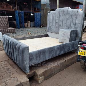 Modern 5 by 6 Bed+ Side Drawer | Furniture for sale in Nairobi, Kahawa