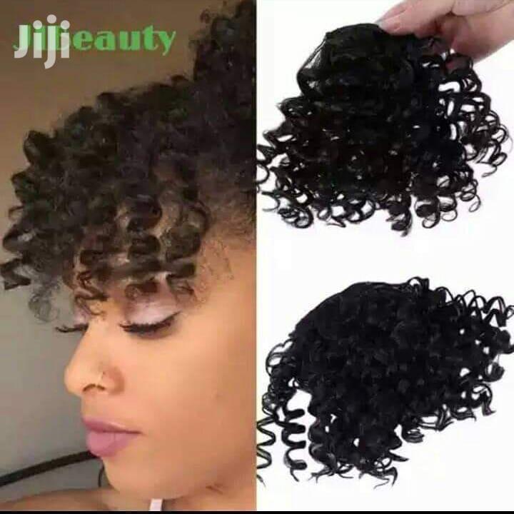 Curly Kinky Clip-in Hair Fringe Bangs | Hair Beauty for sale in Nairobi Central, Nairobi, Kenya