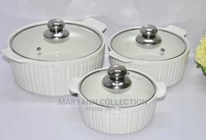 3pcs Ceramic Serving Dishes With Glass Cover | Kitchen & Dining for sale in Nairobi, Nairobi Central