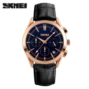 Skmei – 9127 Leather Men Zinc Alloy Watch-Black/Blue | Watches for sale in Nairobi, Nairobi Central