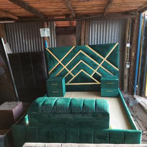 Modern 5 by 6 Bed+Ottoman+2 Side Drawers | Furniture for sale in Nairobi, Kahawa