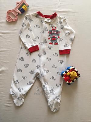 White Romper With Red Details on the Neck and Hands. | Children's Clothing for sale in Nairobi, Nairobi Central